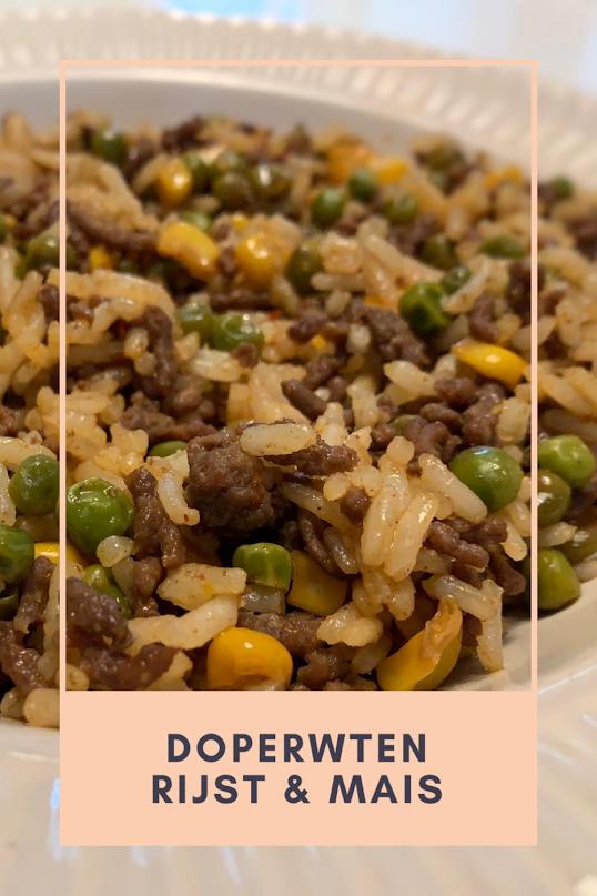 doperwten rijst en mais