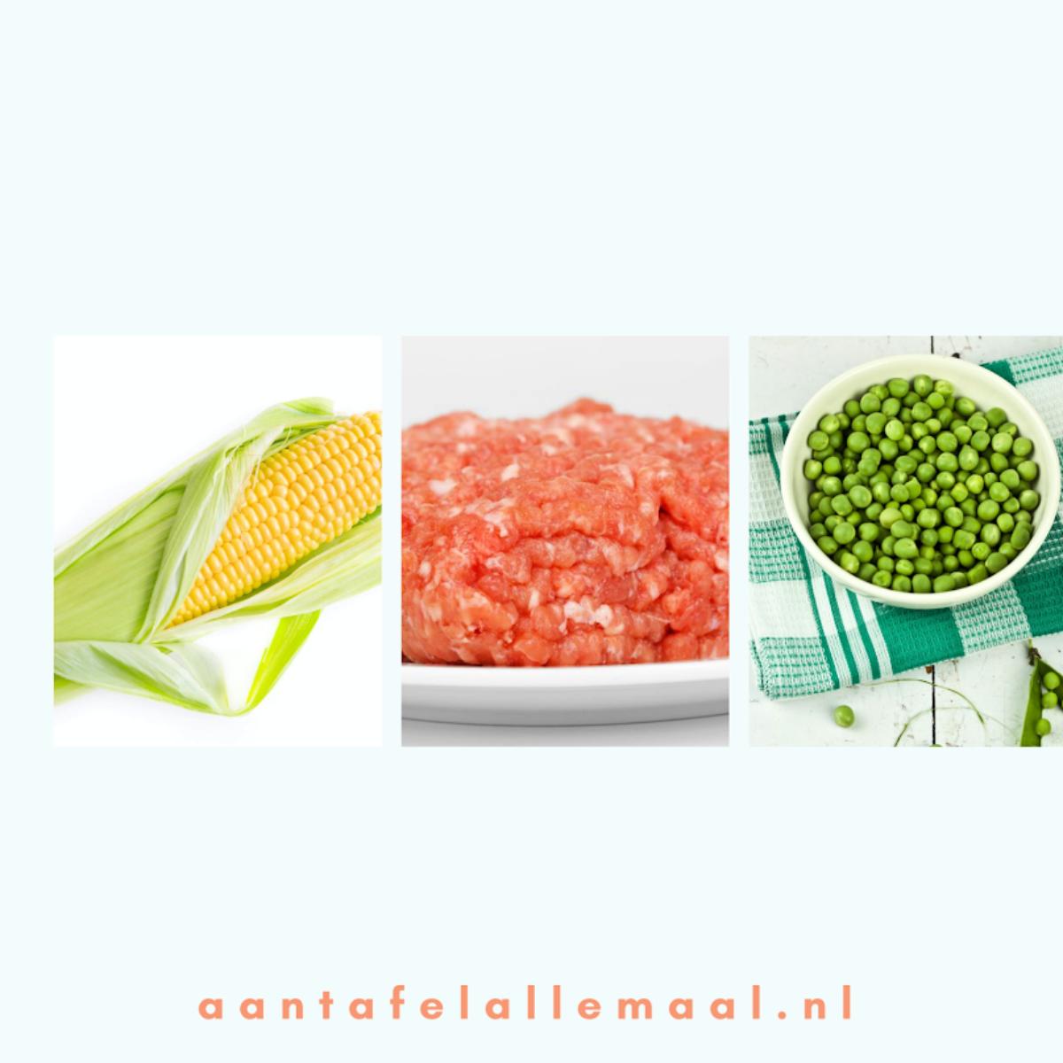 rijst doperwten gehakt
