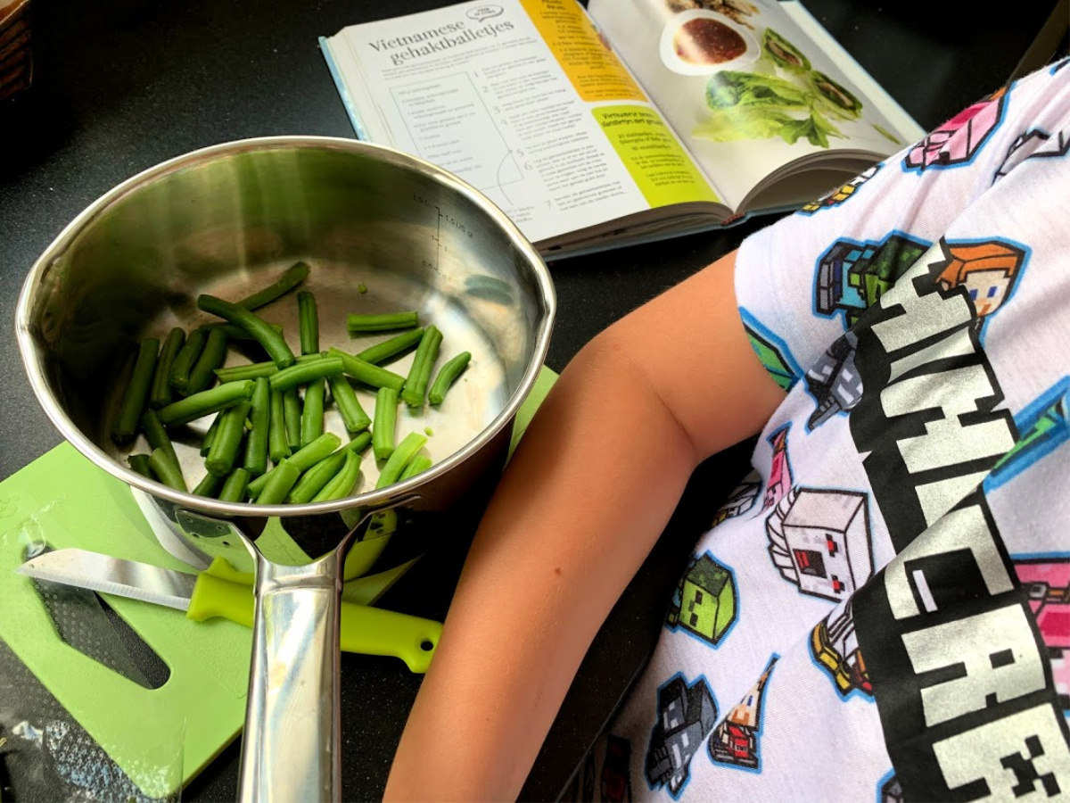 verse sperziebonen voor een salade