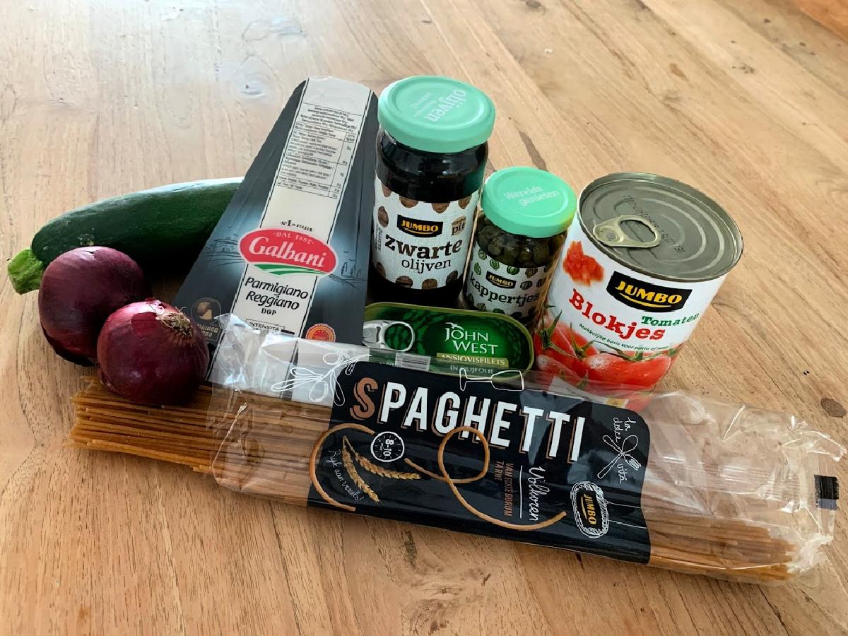 ingredienten eenpansgerecht spaghetti